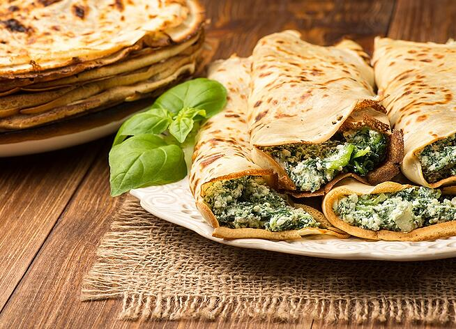 artichoke-spinach-crepes