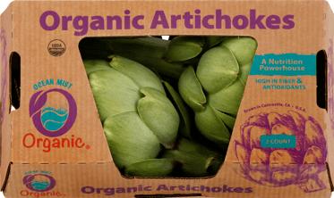 2 Ct. Organic Artichoke Corrugated Clamshell (2)