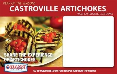 artichoke price cards