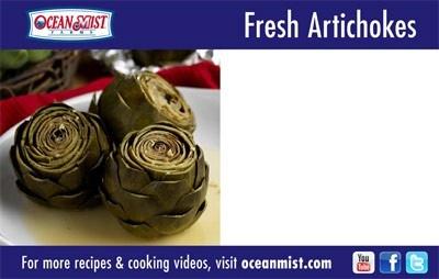 fresh artichokes price cards