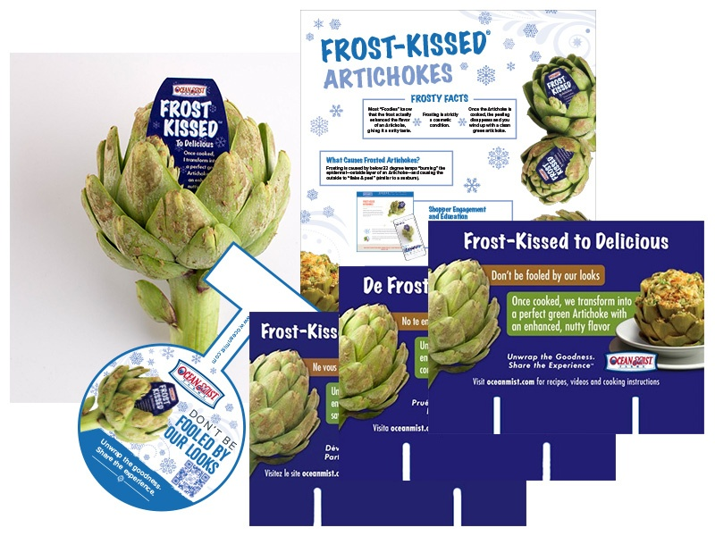 frost kissed artichokes