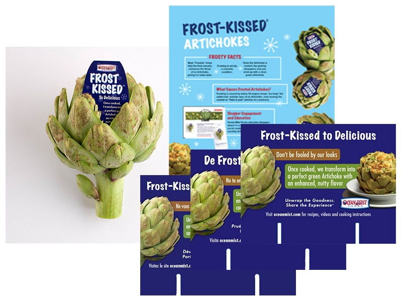 frost kissed artichokes