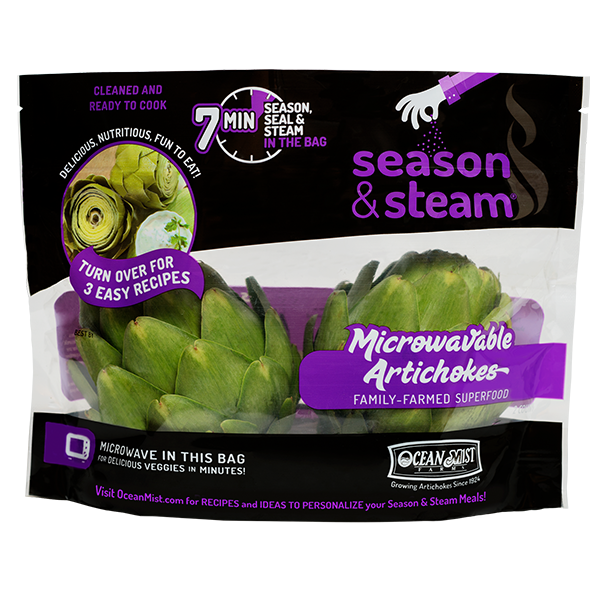 bag of Season and Steam microwaveable artichokes