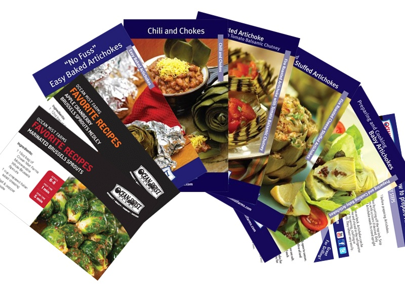 recipe cards for artichokes