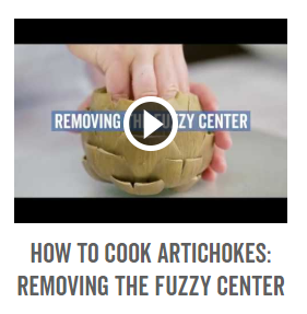 How To Cook Artichokes- Removing Fuzzy Center