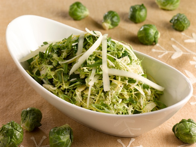 Citrus Shaved Shreds Brussels Sprouts Salad-1-1