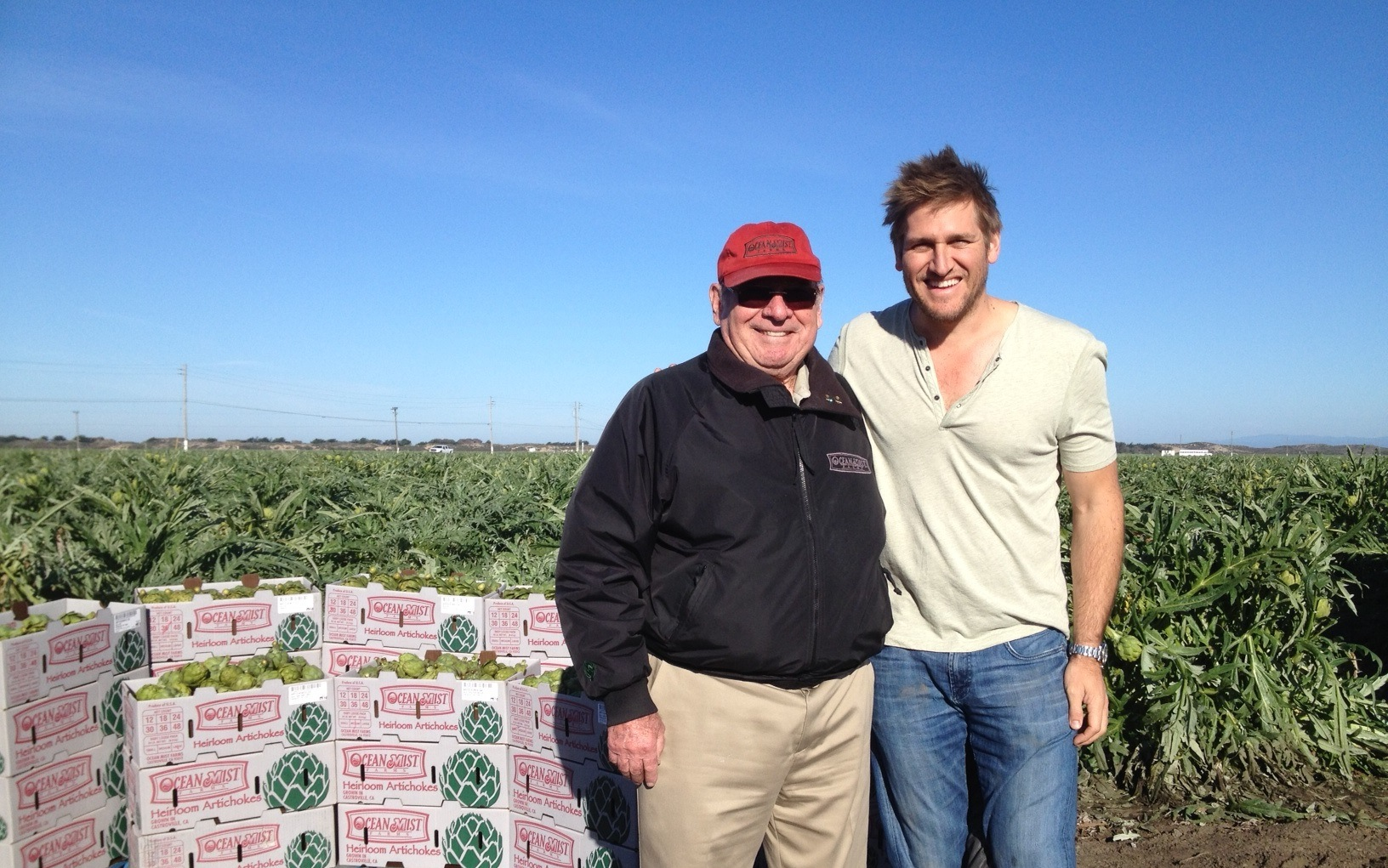 Chef Curtis Stone with Hugo Tottino Feb 2014