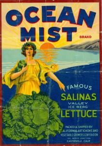 Original Ocean Mist Farms Produce Crate labels