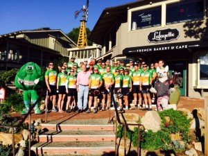 Tour De Fresh Riders with Sam Farr & Ocean Mist Farms Arti the Artichoke