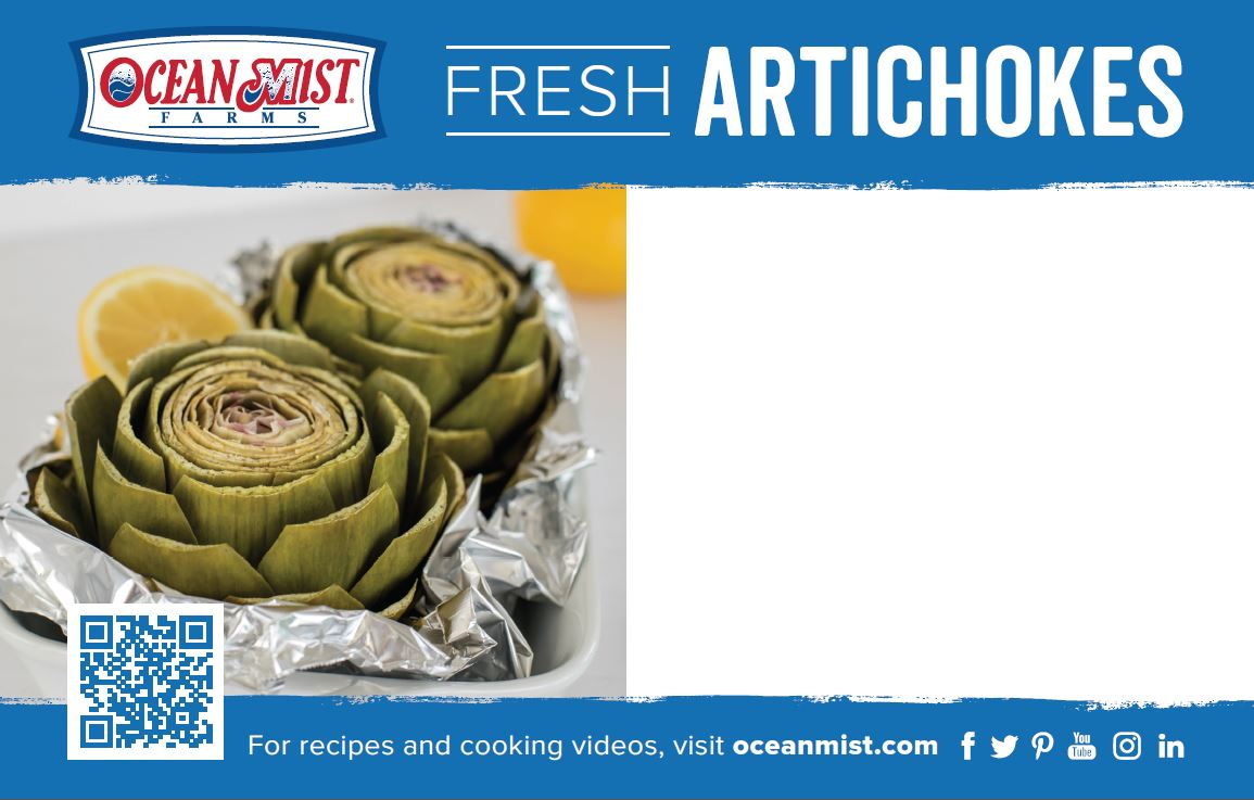 OMF Artichokes Price Card POS