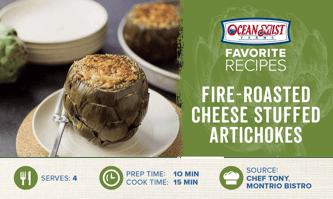 OMF-Fire-Roasted Cheese Stuffed Artichokes Recipe Card