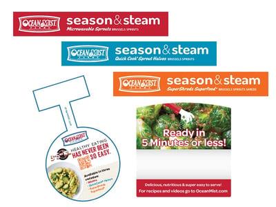 season & steam vegetables