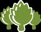 icon of three artichokes