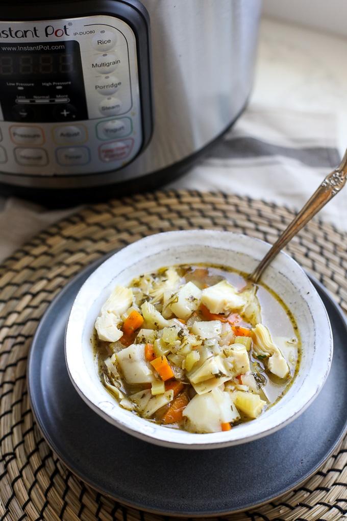 instant pot artichoke chicken soup-2-1