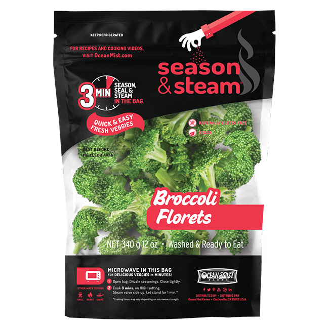 Season and Steam Broccoli Florets