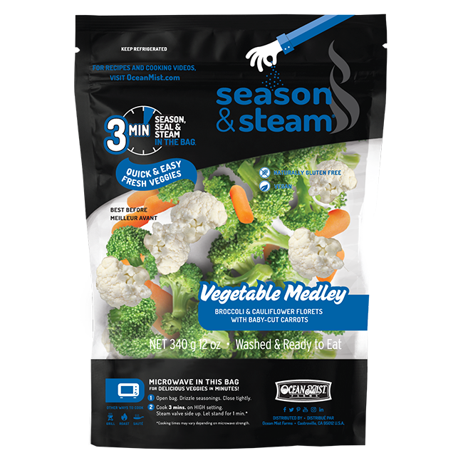 Season and Steam Vegetable Medley