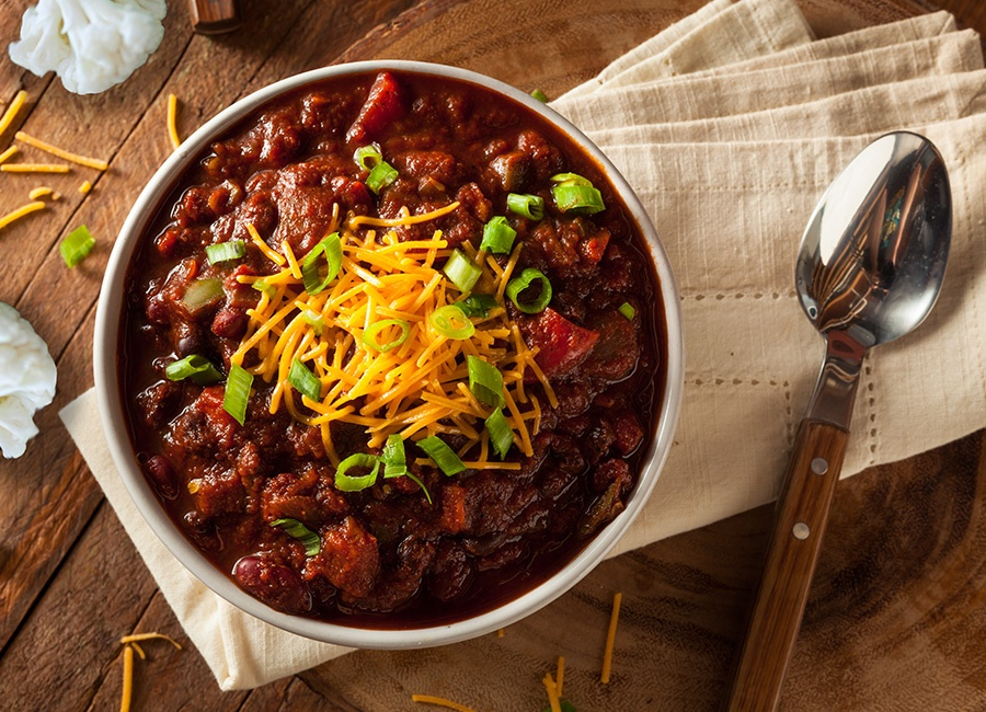 Healthy, Hearty Cauliflower Slow Cooker Chili