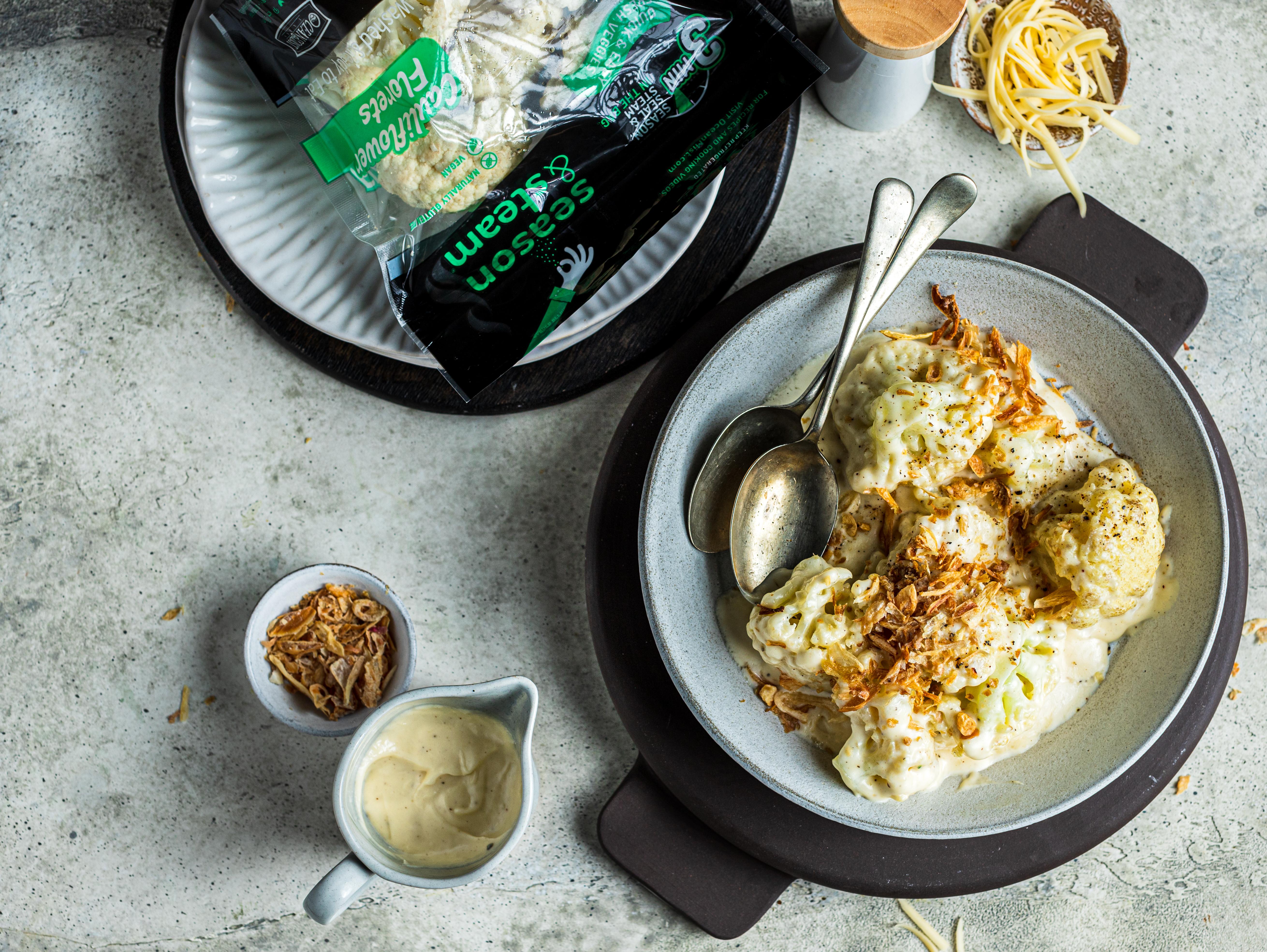 Creamy Gouda Cauliflower Gratin
