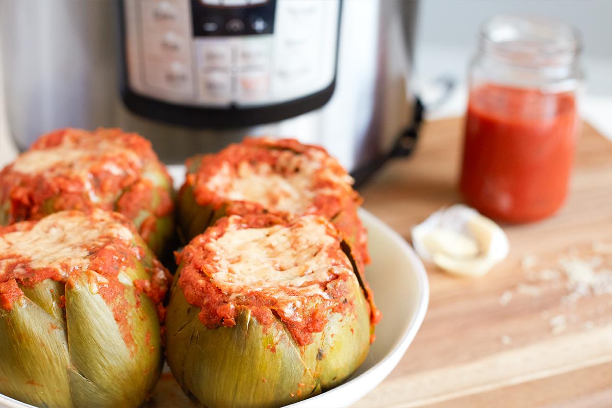 Instant Pot Italian Stuffed Artichokes