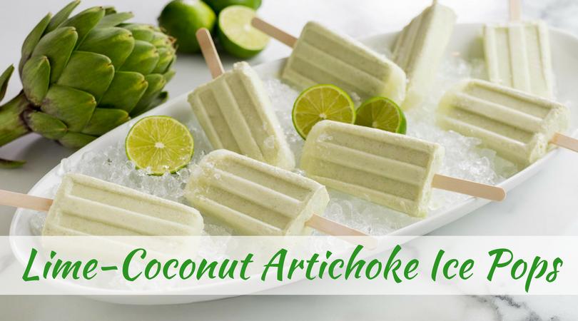 Lime-Coconut Artichoke Ice Pops