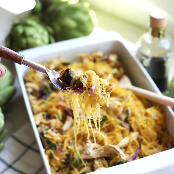 balsamic-artichoke-chicken-spaghetti-squash-bake-5-1-1