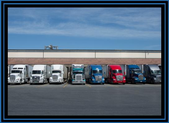trucks at a cooling facility